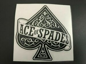 Decal Sticker Ace Of Spades Ace Of Spades Motorbike Scooter Helmet Quad Bicycle