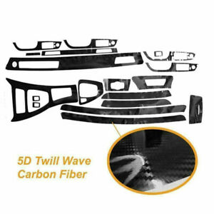 5d Interior Carbon Fiber Wrap Trim Decal Parts Set Kit For Bmw 3 E90 2005 2012