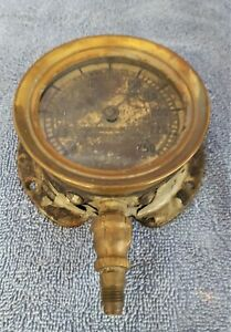 Rare Kahlenberg Bros Co Antique Brass Pressure Gauge 0 250 Psi Steampunk