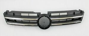 Replacement For 2011 2014 Touareg Front Bumper Cover Upper Main Center Grille