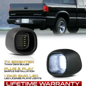 Bright Chevy S10 Gmc Sonoma Blazer Jimmy Smd Led License Plate Light Tag Lamp