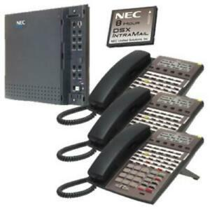 Nec Dsx Systems Kit Dsx40 And Intramail And 3 34b Phones 1091026