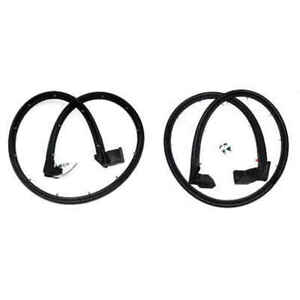 Front Door Weatherstrip Seal Kit For 97 06 Jeep Wrangler Pair