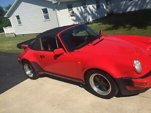 1986 Porsche 911 Cabinet Convertible Wide Body Turbo Look Mint 28k Miles