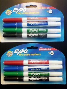 Expo Dry Erase Whiteboard Markers 2 Times A 4 pack Low Odor Ink Finetip New