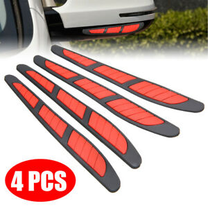 4pcs Red Car Door Edge Guard Strip Scratch Protector Anti Collision Trim Sticker