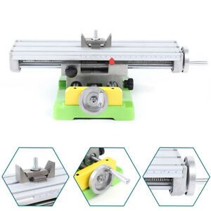 2 Axis Milling Machine Bench Fixture Worktable X Y Cross Slide Table Drill Vise