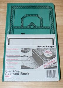 New Boorum Pease Account Book Ledger Journal Rule Blue 150 Pages 12 1 8 X 7 5 8