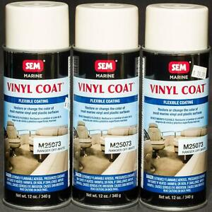 Sem Marine Vinyl Coating Ranger Off White 12oz Aerosol Spray Paint 3 Cans