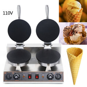 Electric Ice Cream Waffle Cone Roll Maker Nonstick Commercial Home 1200w 2