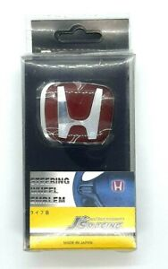 Red H Steering Wheel Type R Emblem For Civic Accord S2000 Fit Crz 50mm X 40mm