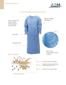 Disposable Sms Medical Dental Isolation Surgical Gowns In Usa 30 Pcs