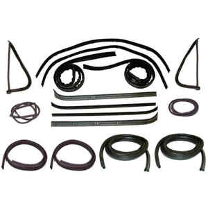 Window Channel Felt Sweep Belt Door Seal Kit For 73 79 Ford Pickup Trucks