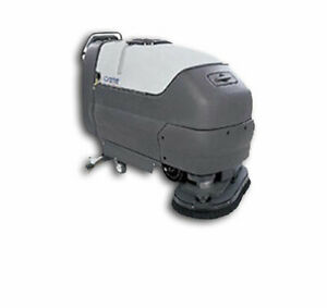 advance Cmax 345t Industrial Floor Scrubber works need 6 Batteries w 17 Pads