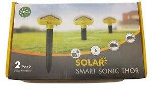Redeo 2 Pack Solar Powered Snake Repellent Sonic Mole Repellent Deterrent Sonic