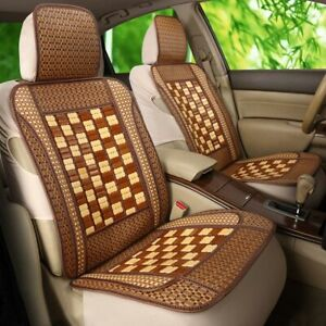 Universal Car Seat Cover Full Set Bamboo Cushion Breathable Protector Front Rear