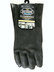 Clc Safeguard Chemical Resist 2082 Pvc Gloves W 12 inch Gauntlet Cuff One Size