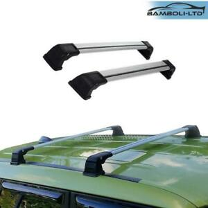 Silver Roof Rack Cross Bar For Subaru Impreza 2008 2012 Fixed Point Rack Pair