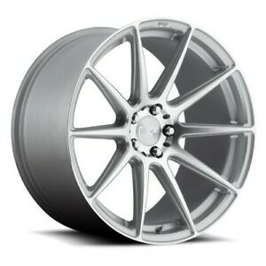 4 19 Staggered Niche Wheels M146 Essen Silver Machined Rims b41
