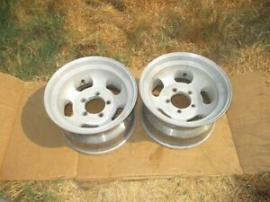 Vintage 16 5x9 75 Slot Mag Wheels Rims 5x5 5 Ford Truck Jeep 4x4 Gasser