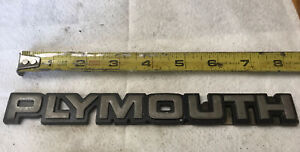 Vtg Plymouth Metal Car Emblem Logo Chrysler Nameplate Badge 8