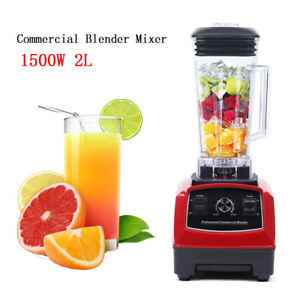 2l 1 5kw Blender Commercial Grade Blender Food Mixer Fruit Juicer Kitchen Tool