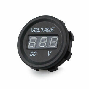 Travel Trailer Voltmeter Car Motorcycle Caravans Digital Voltage Stock