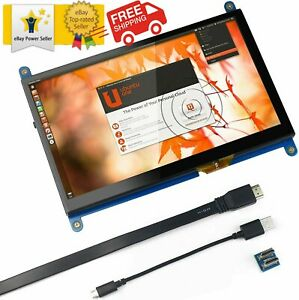 For Raspberry Pi 7 Inch Capacitive Touch Screen Hdmi Monitor 1024x600 Hd Lcd