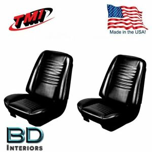 1967 Chevy Chevelle Malibu Front Bucket Seat Upholstery Black Made In Usa By Tmi
