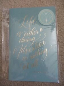 Inkwell Press Sewn Notebook With Gold Writing On Cover Helen Keller Quote