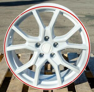 18 Fk8 Type R Style White Red Lip Wheels Fit Honda Civic Accord Acura Rsx Tsx