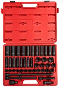 Sunex 2569 1 2 Drive Master Impact Socket Set 43piece New Free Shipping