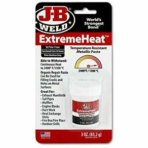 J b Weld 37901 Extremeheat High Temperature Resistant Metallic Paste 3oz