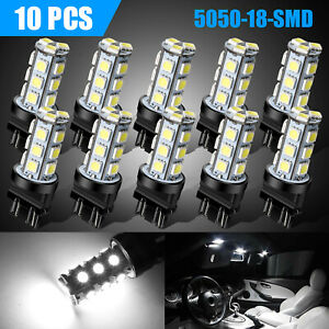 10 X 3157 3156 Super White 18smd Led Reverse Tail Brake Signal Light Bulbs 6000k