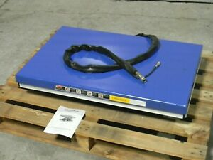 Worksmart Hydraulic Scissor Lift Table 770 Lb Capacity 35 X 19 Platform