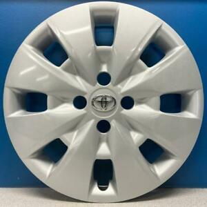 One 2009 2012 Toyota Yaris 61154 15 Hubcap Wheel Cover 42602 52400 Refinished