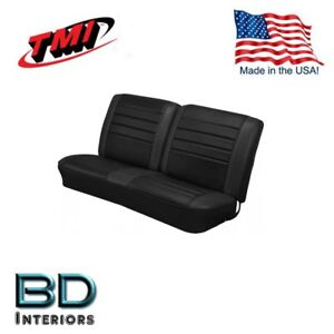 1965 Chevelle Coupe Front Rear Bench Seat Upholstery Black In Stock By Tmi