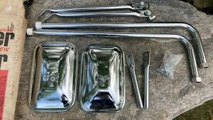 Vintage Pair Truck Trailer Camper Rv Towing Mirrors