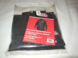 Lincoln Electric Kh809xl Flame Retardant Collared Welding Shirt Black Xl
