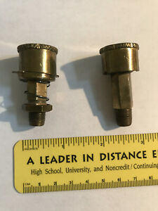 Vintage Bowen Mfg Co Made Usa Brass Grease Cup 1 4 Npt 1 Unmarked With Lock