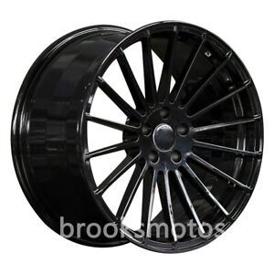 22 Staggered Gloss Black Style Wheels Rims For 2016 Porsche Panamera 971