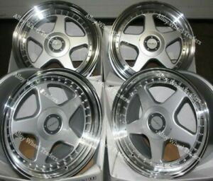 17 Silver Dr F5 Alloy Wheels Fits Bmw 5 6 7 8 Series Models Staggered Wheels