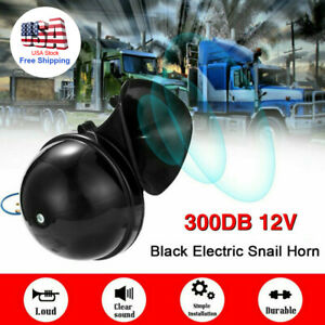 Universal 300db Loud Electric Air Horn Trumpet For Car Motorcycle Truck Train Us