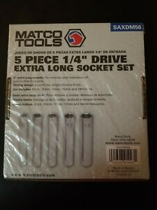 Matco Tools 5pc 1 4 Drive Extra Long Socket Set Saxdm56