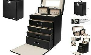 Jewelry Box Girls Fully Locking Organizer For Necklace Earrings Ring Great Gift