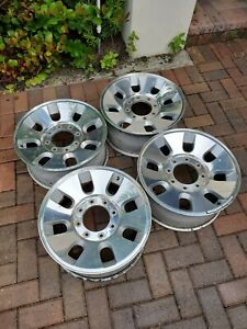 Ford Polished F250 F350 2008 2010 18 Factory Oem Wheels Rims Set