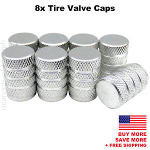 8x Universal Tire Valve Stem Caps For Car Truck Standard Fitting Silver