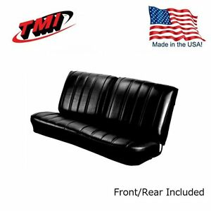 1966 Chevelle Coupe Black Front rear Bench Seat Upholstery By Tmi In Stock