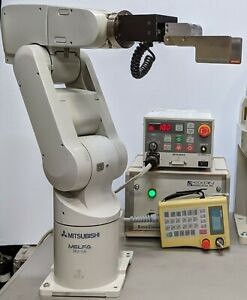 6 Axis Mitsubishi Rv 1a Robot System Clean Working W teach Pendant See Video