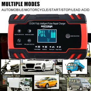 Lcd Display Car 12 24v 6 150ah 3 Stage Pulse Repair Battery Charger Safety